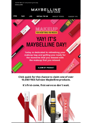 Maybelline - It's Maybelline Day! Act fast before everything is gone!