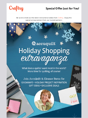 Bluprint - Holiday Shopping is More Fun with Eleanor Burns!
