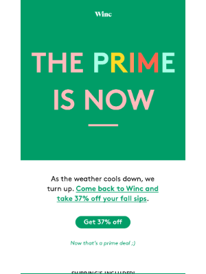 Winc - Step aside Prime Day, we've got something better