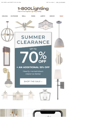 Summer Clearance ❗ Up To 70% Off At Your Local Showroom
