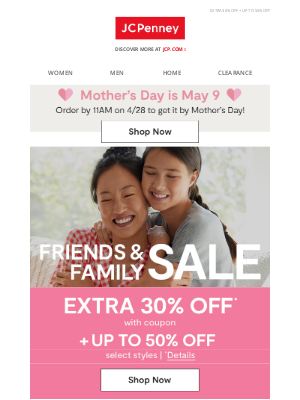 JCPenney - It's here! Friends & Family SALE