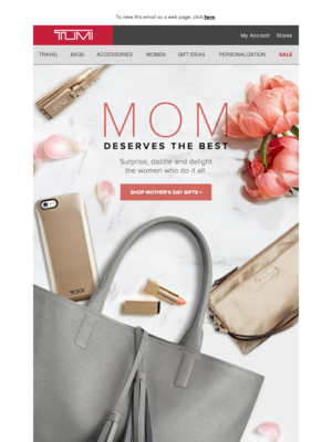 Gifts for her. Shop now at TUMI.com. To view this email as a web page, clic