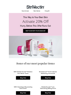 StriVectin - Visibly Transform Skin with 20% Off
