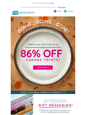 Easy Canvas Prints - Beat The Holiday Rush With Up To 86% OFF Canvas Gifts!