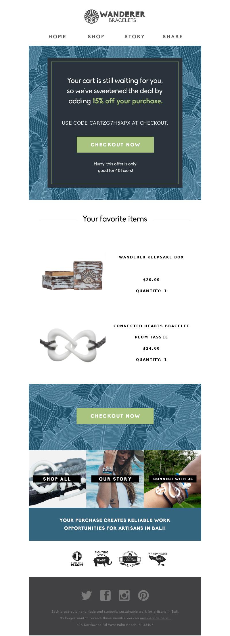 Wanderer Bracelets - Still interested? How about 15% off?