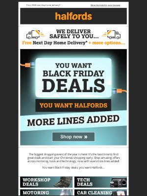 Halfords (UK) - Black Friday Deals NOW ON!