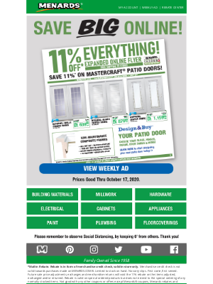 Menards - 11% OFF* Fresh Finds For Your Home!