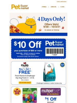Pet Supermarket - 💰$10 OFF for Robert + BOGO Deals & More💰