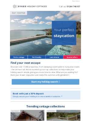 Sykes Cottages UK - Craving some staycation inspiration? 💡