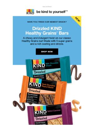 KIND Snacks - 5 super grains + a rich drizzle = ♥