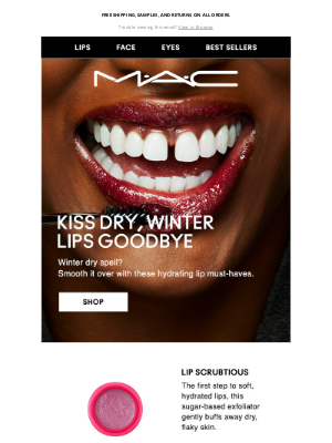 MAC Cosmetics - Lip formulas for your winter dry spell. ❄️
