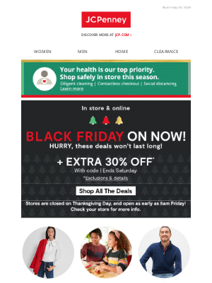 JCPenney - Shop Black Friday deals + save EXTRA 30%