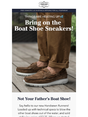 Thursday Boot Company - Not Your Father's Boat Shoe!