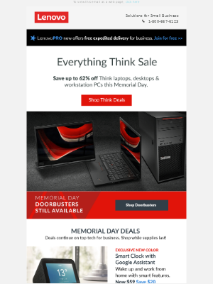 ThinkPad, now up to 62% off