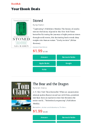 BookBub - Your ebook bargains for Saturday