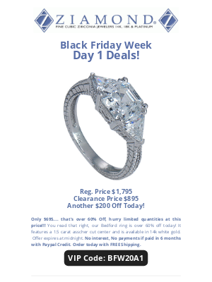 Ziamond - 🚨Day 1 Deals Black Friday Week🚨