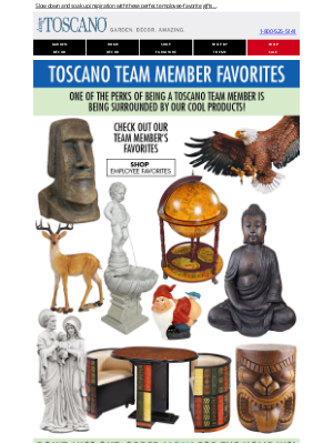 Design Toscano - 🎁 Great Toscano Employee Gift Picks are here! - Aspire to Inspire before you Expire  🎁