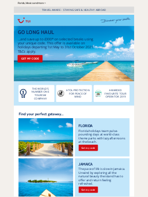 TUI (UK) - Save up to £300 on long-haul breaks