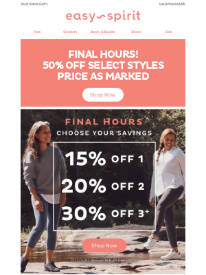 Easy Spirits - FINAL HOURS to Choose Your Savings — Up to 30% Off