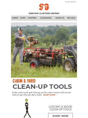Sportsman's Guide - Find the Right Tools for Cabin & Yard Cleanup