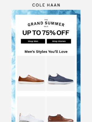 Summer styles up to 75% off