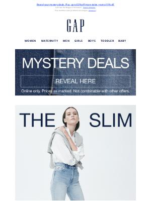 Gap (CA) - Because slim > skinny jeans