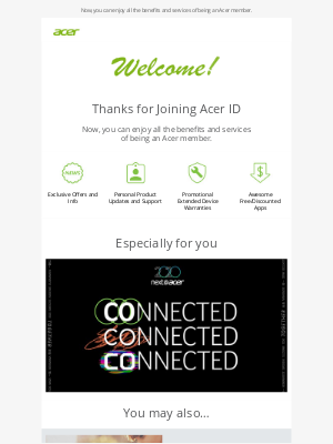 Acer - Welcome! Get 20% off Acer Care Plus for your Acer device