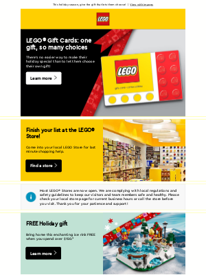 LEGO - Give a LEGO® Gift Card