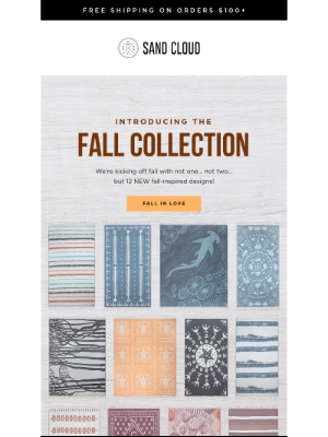 Sand Cloud Towels - Just Launched: The Fall Collection 🍂
