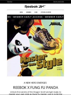 Reebok - Reebok x Kung Fu Panda is Here EARLY for Members 🐼
