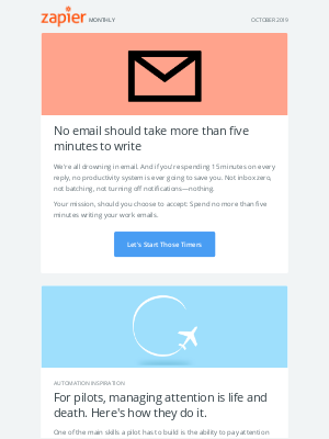 New in October: Five-minute emails, 10 updates, and 3 new apps!