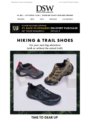 Designer Shoe Warehouse - Made for the trail >