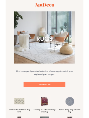 AptDeco - One-of-a-kind rugs to transform your space