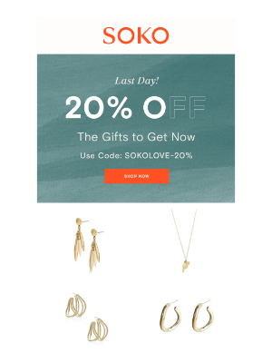 20% off. Need we say more?