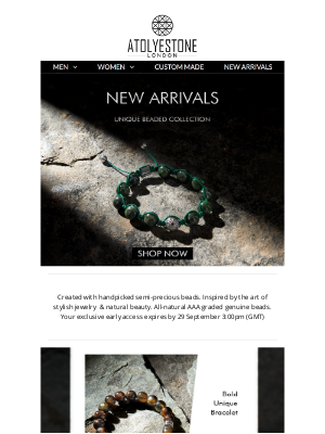 ATOLYESTONE - Exclusive Early Access: Discover our Latest Rare Bead Collection