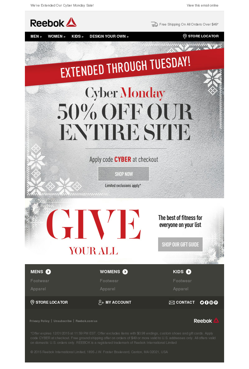 One More Day To Save! | We've Extended Our Cyber Monday Sale! View this ema