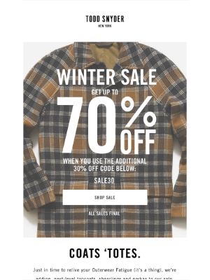 Todd Snyder - UP TO 70% OFF NOW INCLUDING OUTERWEAR