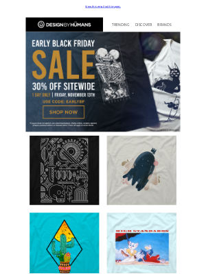 DesignByHumans - Wishbone Wishes & Early Black Friday Deals. 30% Off Today Only.