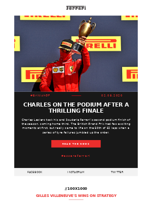 Listen to Charles' message from Silverstone