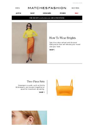 Matches Fashion (UK) - The colour-pop checklist