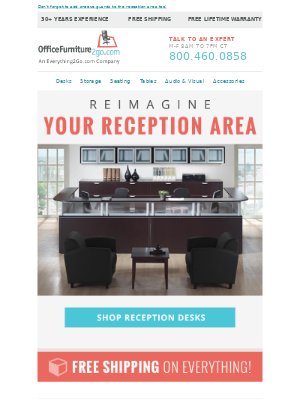 Office Furniture - A Safe Reception Area for All