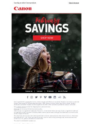 Canon - Shop Our Winter SALE ❄️