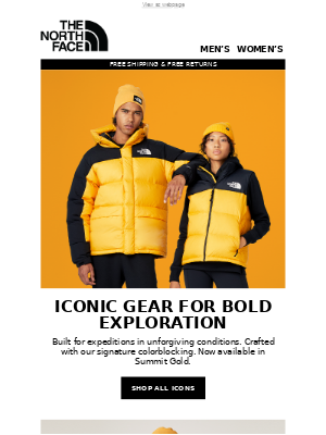 The North Face - New colorway dropping now: Summit Gold