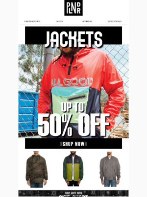 We got Jackets in All Sizes - Up to 50% Off