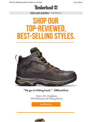Our top-reviewed hikers & work styles.