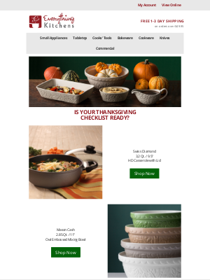 Everything Kitchens - Thanksgiving Checklist Ready?  ✔