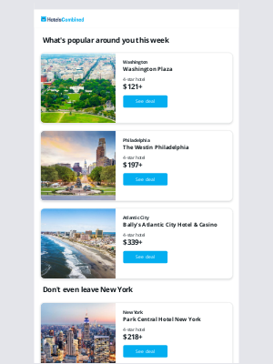 HotelsCombined - Where will you go? We have some ideas...