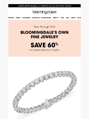 Major fine jewelry sale: Save up to 70%