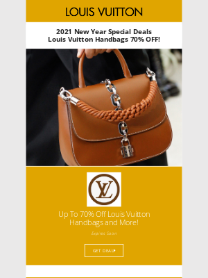 Poppin - 2021 New Year Top Handbag Deals - Louis Vuitton 80% OFF!