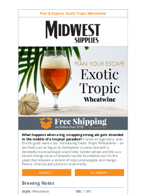 Midwest Supplies - NEW Wheatwine: A Boozier Beer Made for Island Time 🌴